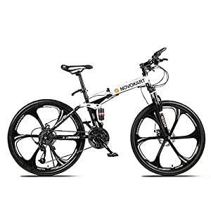 Novokart-Sport Pieghevole/Mountain Bike 24/26 Pollici 6 taglierina, Bianco 11 spesavip