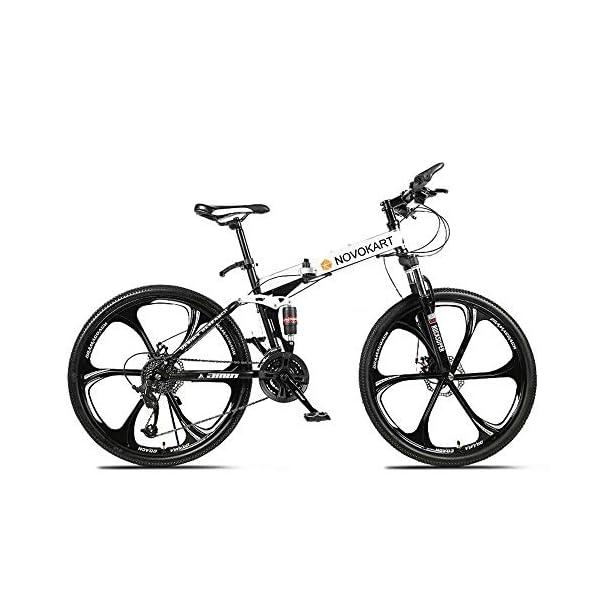 Novokart-Sport Pieghevole/Mountain Bike 24/26 Pollici 6 taglierina, Bianco 1 spesavip