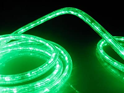 LED ROPE LIGHT, EMERALD GREEN LED ROPE LIGHT KIT FOR 120V, Christmas Lighting, Outdoor Rope Lighting