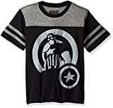 Marvel Big Boys' Captain America with Shield Jersey-Style T-Shirt