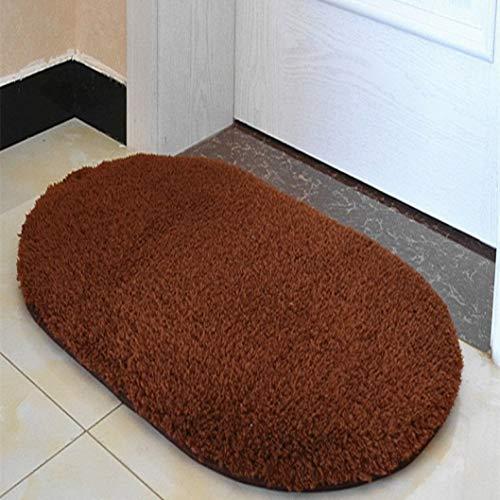 (Dal-Msee Modern Bathroom Mat Absorbent Mat Non-Slip Floor Soft Carpet Toilet Carpets Washable Shower Floor Rugs)