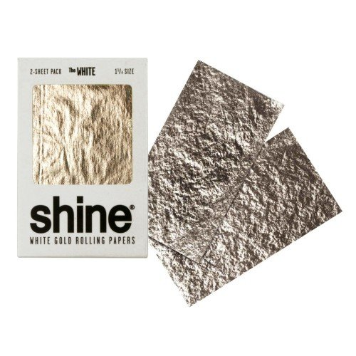 Shine 24K White Gold Rolling Papers 2 Sheet Pack