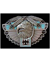 Thunderbird Totem Colored Belt Buckle