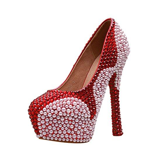 Con Plateau Rosso Scarpe Minitoo red 14cm Donna Heel zqf5CwxR