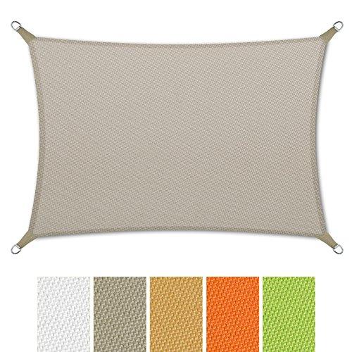 casa-pura-Sonnensegel-wasserabweisend-imprgniert-Rechteck-UV-Schutz-verschiedene-Farben-und-Gren