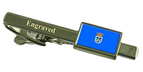 Amazon.com: Oviedo ciudad bandera de España Clip de corbata ...