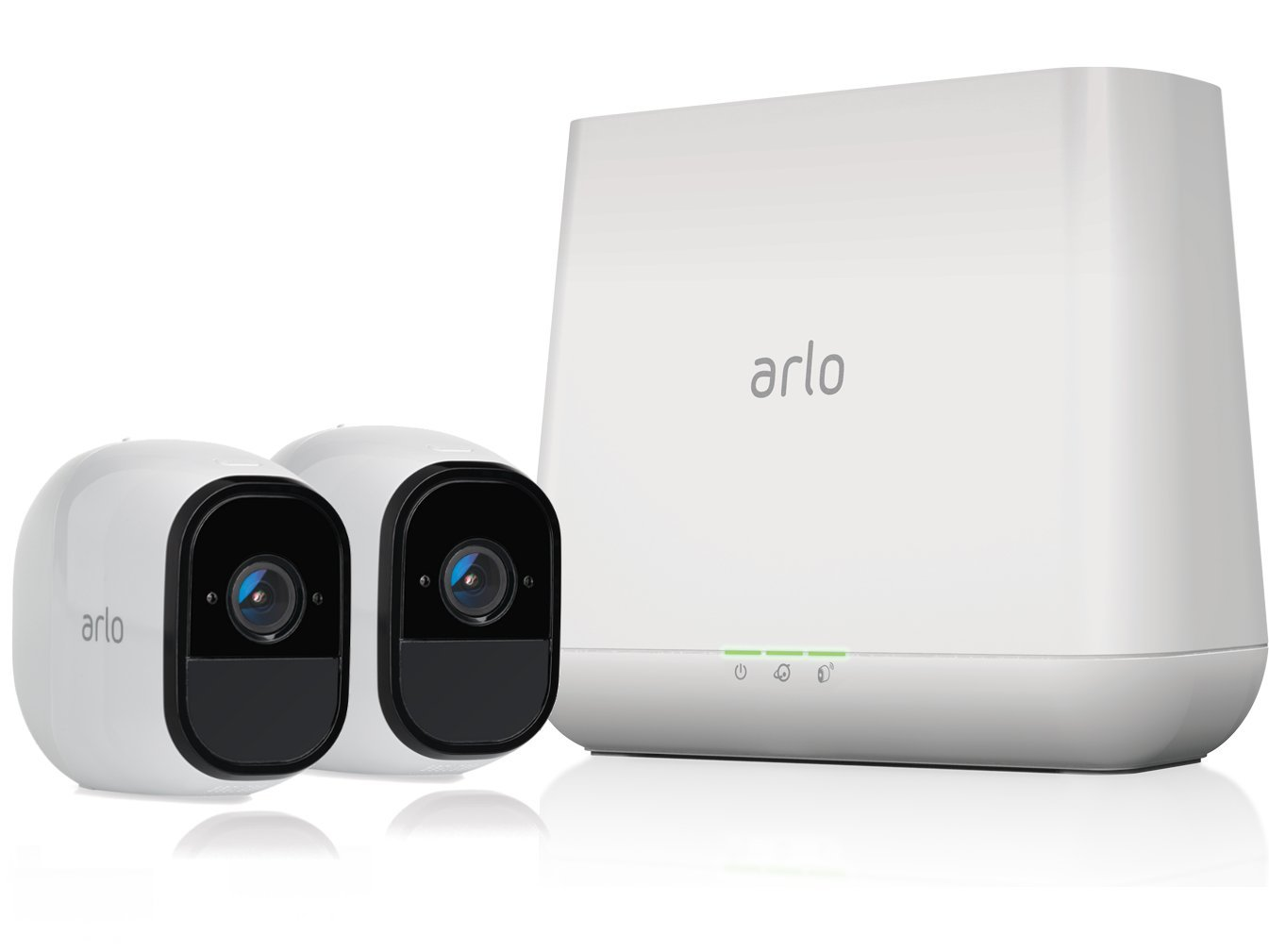 Arlo Pro by NETGEAR Security System with Siren – 2 Rechargeable Wire-Free HD Cameras with Audio, Indoor/Outdoor, Night Vision (VMS4230) by NETGEAR