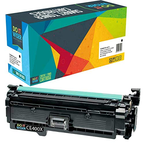Do it Wiser Remanufactured Toner Cartridge Replacement for HP 507X CE400X HP Laserjet Enterprise HP M551n M551dn M551xh M570dw M570dn M575c M575dn M575f (Black) ()