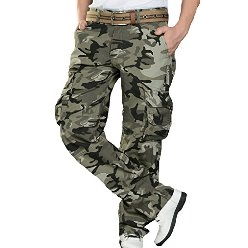 TM Mens Casual Hip-hop Loose Army Combat Work sports Trousers long pants