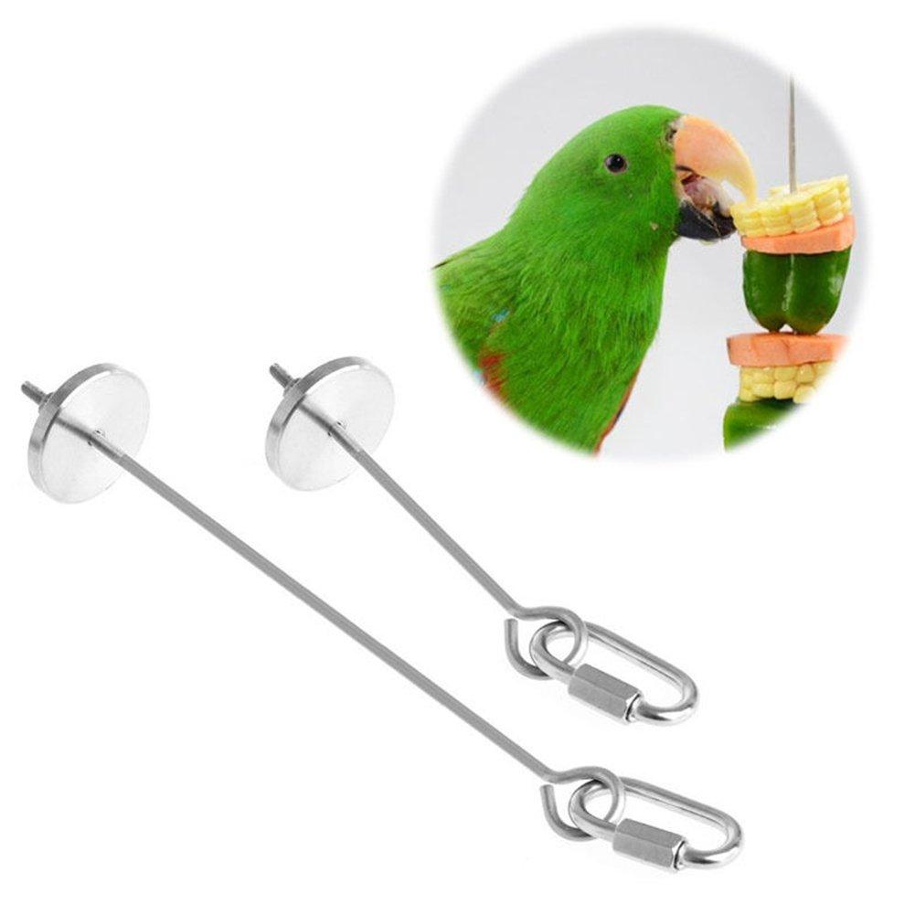 Patzbuch uccello per frutta, piccolo uccello Parrot pezzo resistente in acciaio INOX Spiedino appeso stick Fruit Spear Holder Feed Tool