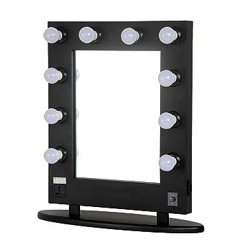 Buy Sunrise Professional Large Black Makeup Vanity Mirror With - Professional vanity mirror with lights