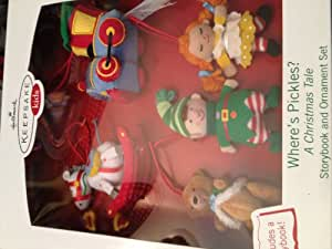 Hallmark Keepsake Kids Where's Pickles A Christmas Tale Storybook & Ornament Set