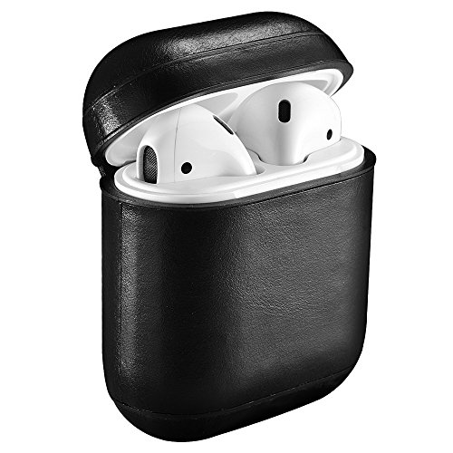 Top 10 airpods case leather black