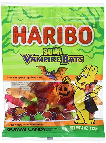 Haribo of America Sour Vampire Bats, 4 Ounce (Pack of (Halloween Vine Bats)