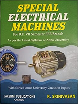 Special Electrical Machines By Srinivasan Ebook
