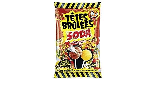 Sucettes soda Tetes Brul es: Amazon.es: Alimentación y bebidas