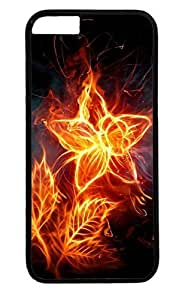 3d Fire Flower PC Black Case for Masterpiece Limited Design iphone 6 plus by Cases & Mousepads