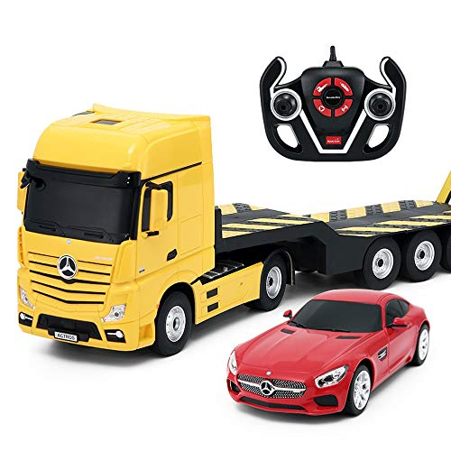 Luccky Great 2 Pack Remote Control Car Truck Radio Controlled Supercar On Road RC Car 4 Channel Toy Truck Sport Car with Working LED Lights 1/24 Best Gift Children Boy Kids Adults 5 6 7 Years Old
