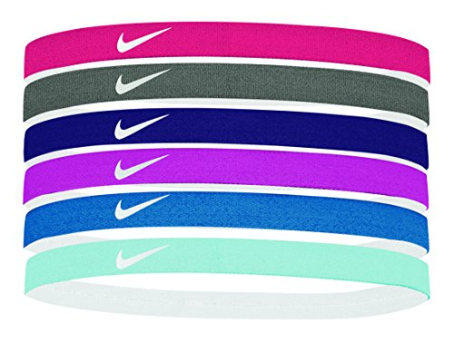 Price comparison product image Women's Nike Printed Headbands Assorted 6PK Habanero Red / Gunsmoke / Grand Purple Size One Size