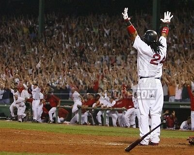 (Manny Ramirez Red Sox game winning home run playoff 8x10 11x14 16x20 photo 186 - Size 16x20)