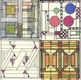 Frank Lloyd Wright Art Glass Design Set of 4 Stone Coasters