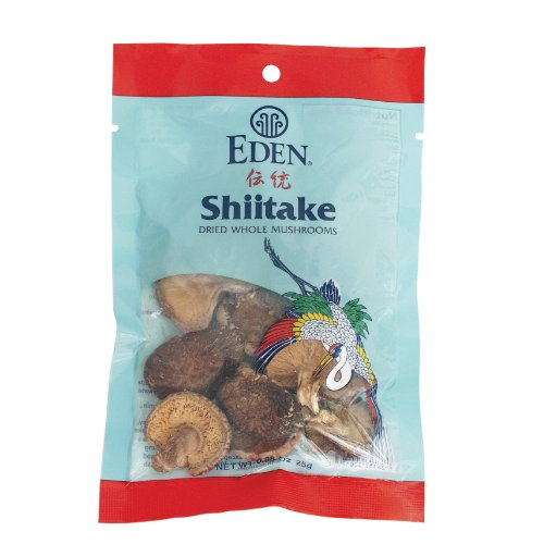 Eden Shiitake Mushrooms, Whole Dried, 0.88-Ounce Packages (Pack of 6) by Eden