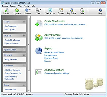 Free Templates For Invoices Excel Amazoncom Express Invoice Professional Invoicing Software Pcmac Receipt Of Payment Sample Excel with Invoice Builder  Sample Of Money Receipt Excel