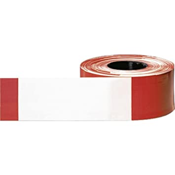 Einzigartig Absperrband rot/weiß geblockt 80 mm breit á 500m: Amazon.de: Baumarkt IQ41