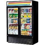 True GDM-49-LD Black Glass Door 49 Cu. Ft. Refrigerator Merchandiser