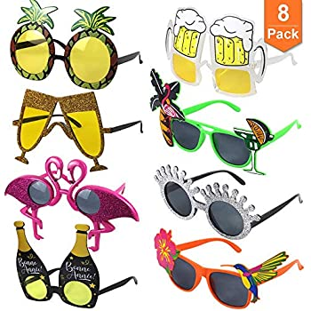 Amazon.com: Funny Party Hats, lentes de sol de disfraz ...