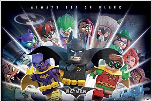 The LEGO Batman Movie - Movie Poster / Print (Always Bet On Black) (Size: 36