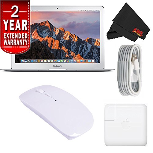 Apple 13.3″ MacBook Air 128GB SSD #MQD32LL/A (Newest Version) With 2 Year Extended Warranty Starter Bundle