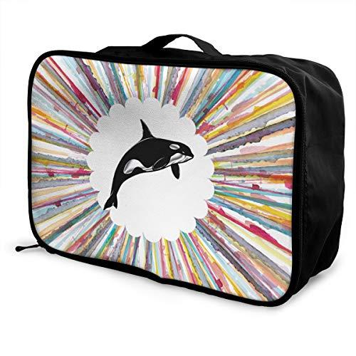 customgogo Free Killer Whale Orca Grampus Travel Luggage