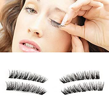 82625286096 Amazon.com : YUOIOYU 3 Magnet False Eyelashes Full Strip 3D Magnetic  Eyelashes Hair Reusable Fake Eye Lashes : Beauty