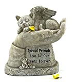 Elaan31 In God's Hands Cat Memorial Garden Statue