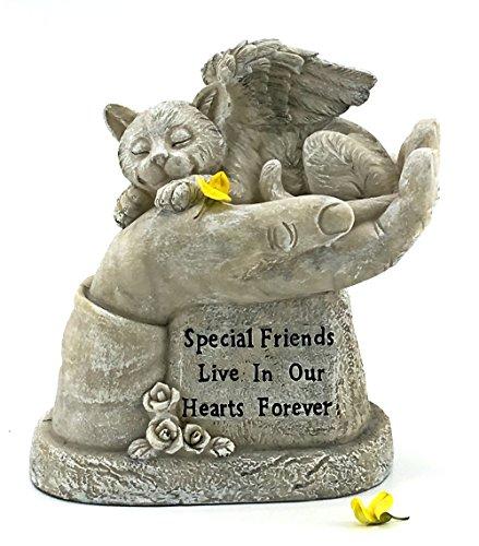 Elaan31 In God's Hands Cat Memorial Garden (Angel Memorial Marker)