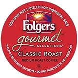 Folgers Gourmet Selections Classic Roast Coffee(Meduim Roast) Keurig K-Cups, 24 Count (Pack of 4)