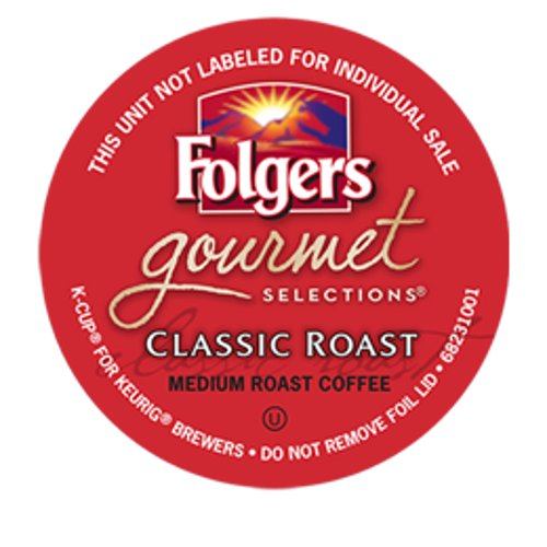Folgers Gourmet Selections Classic Roast Coffee Keurig K-Cups, 108 Count ()