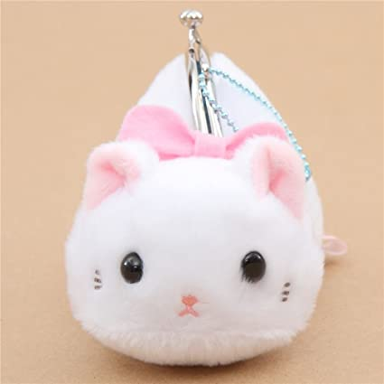 Amazon.com: Soft cute white cat plush Tsuchineko purse ...