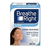 BREATHE RIGHT NASAL STRIPS,CLEAR,SM/MED, 30 CT