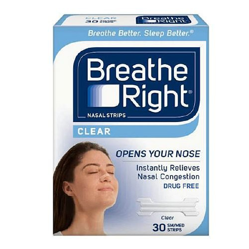 BREATHE RIGHT NASAL STRIPS,CLEAR,SM/MED, 30 CT by Breathe Right