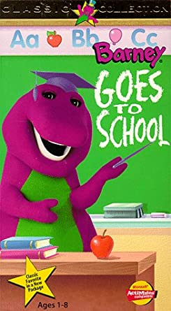 Amazon Com Barney Goes To School Vhs Bob West Julie Johnson