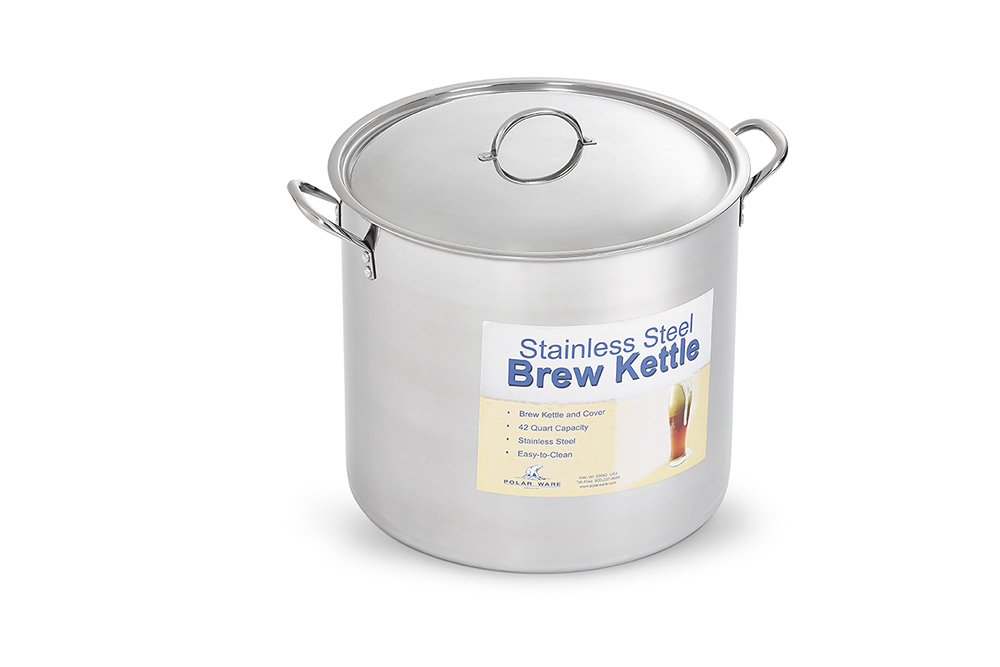 Polar Ware Stainless Steel Brew Pot with Cover, 42-Quart