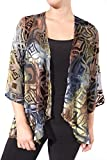 Aris. A Lightweight Sheer Silk Blend Velvet Cover Up Jacket Style VB17309 Size Small