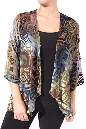 Aris. A Lightweight Sheer Silk Blend Velvet Cover Up Jacket Style VB17309 Size Large by Aris. A