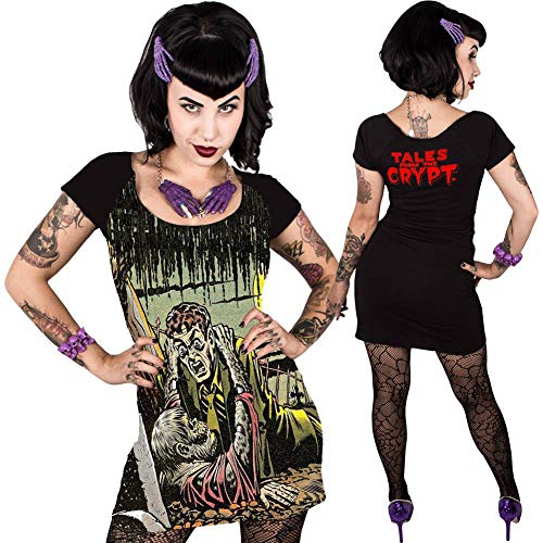 Women's Kreepsville Tales from The Crypt Gravebuster Dress Black S