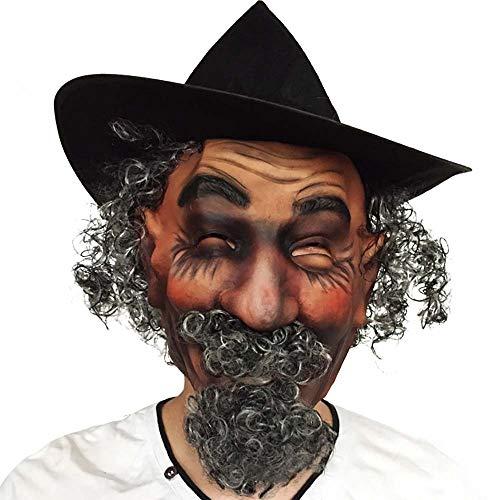 ZYG.GG Simulated Character Mask Latex Mask Hat Hair Mask Halloween Ball Show Mask -