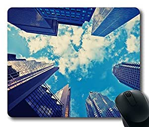 Skyscrapers Blue Sky Mouse Pad Desktop Laptop Mousepads Comfortable Office Mouse Pad Mat Cute Gaming Mouse Pad