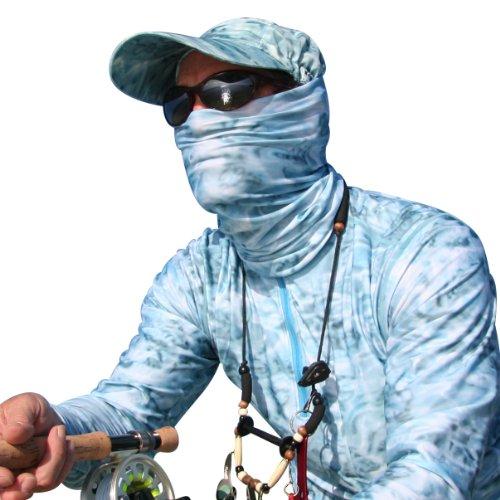 SunGuard UPF 50+ Performance Headband Face Mask Tube Head Neck Gator UV Sun Protection Aqua Design Multifunctional Camo Headwear, Outdoor Stuffs