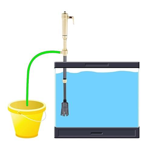 Ballylelly Bomba de Filtro de Agua para Acuario o pecera (Color Beige y Gris)